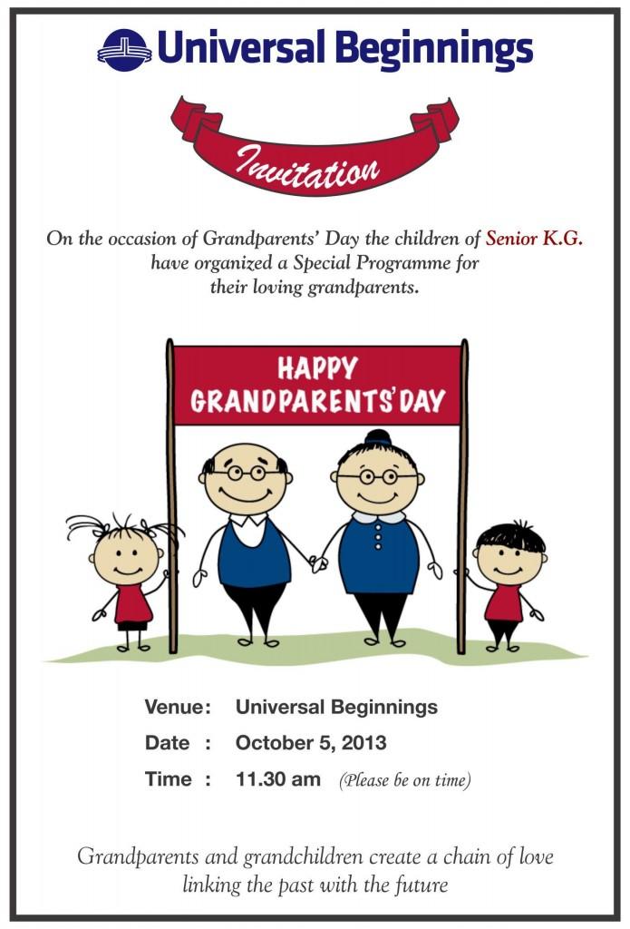 Grandparents Invite Sr. K.G