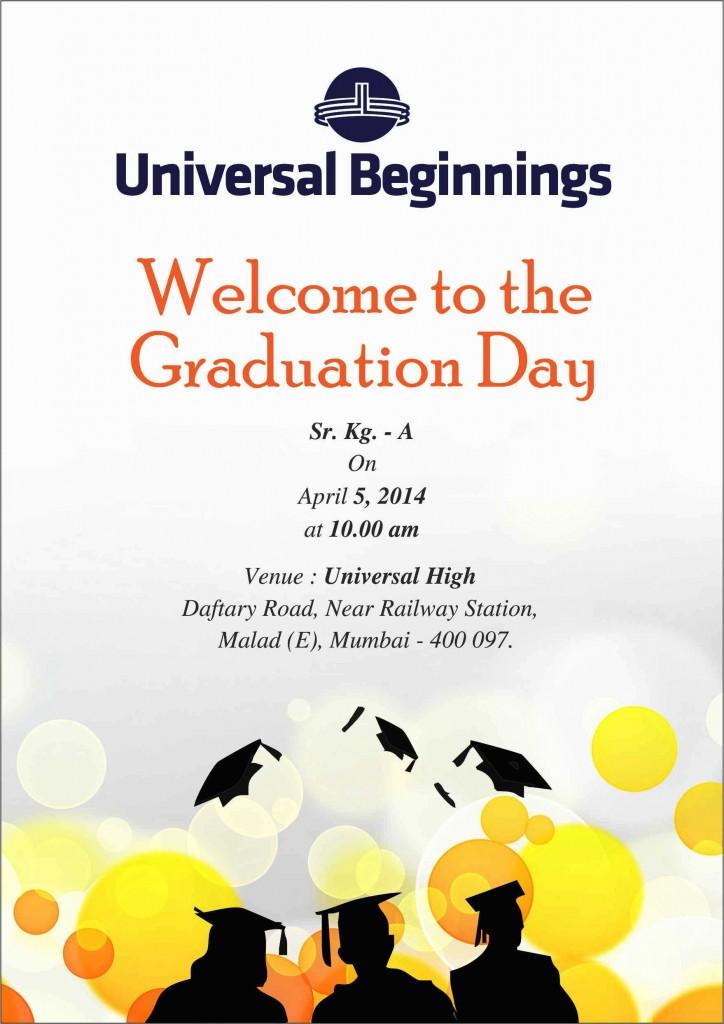 Graduation Day Invitation - SR. Kg. A