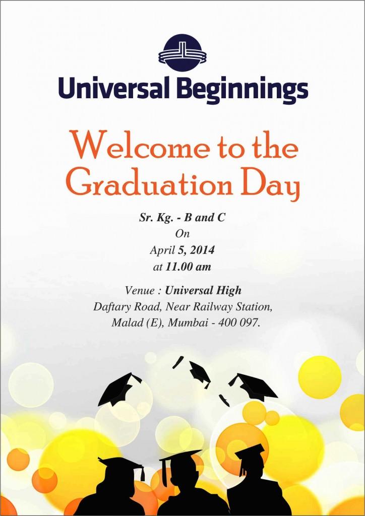 Graduation Day Invitation -Sr. Kg. B and C