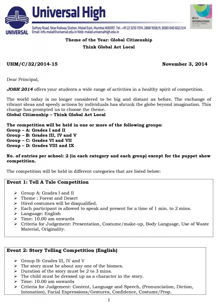 Microsoft Word - [32] Circular for JOSH 2014 (Interschools competition)