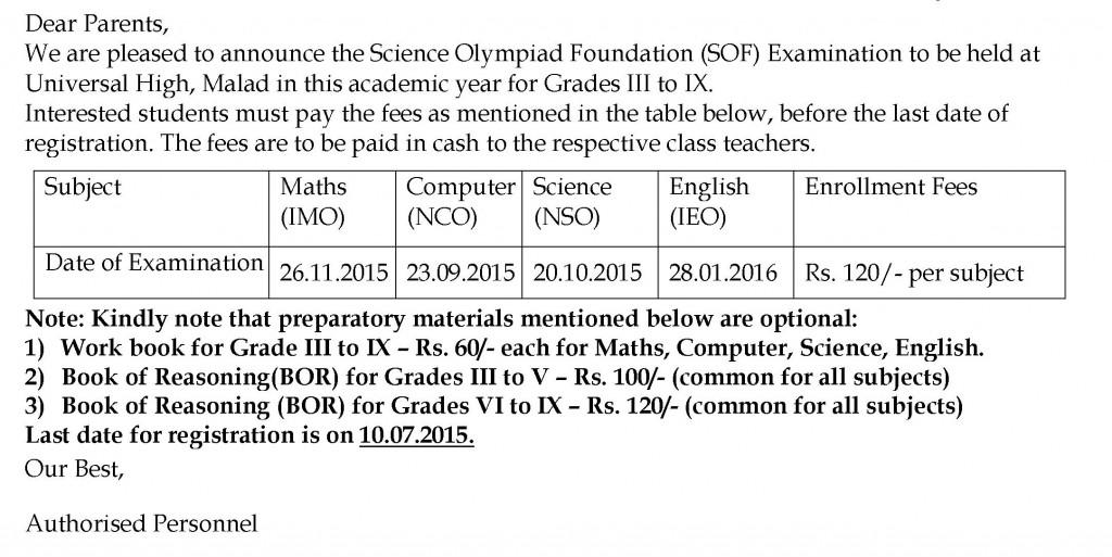 [12] Circular - SOF Olympiad Exam III to IX