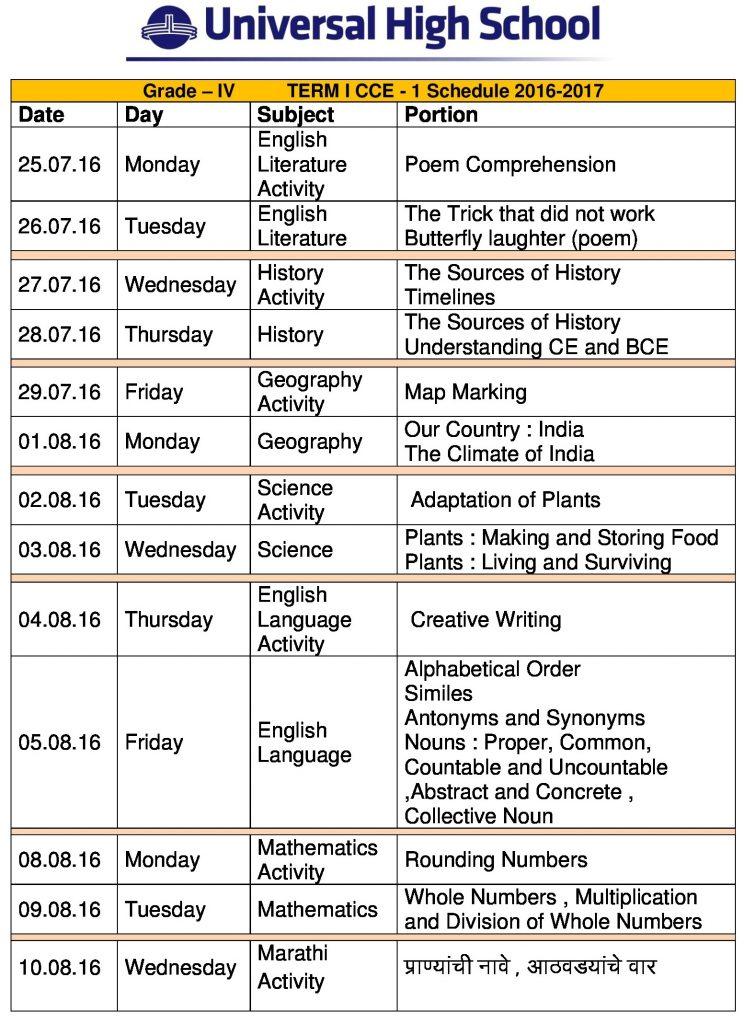 grade iv term 1 cce-1 syllabus 2016-17-0