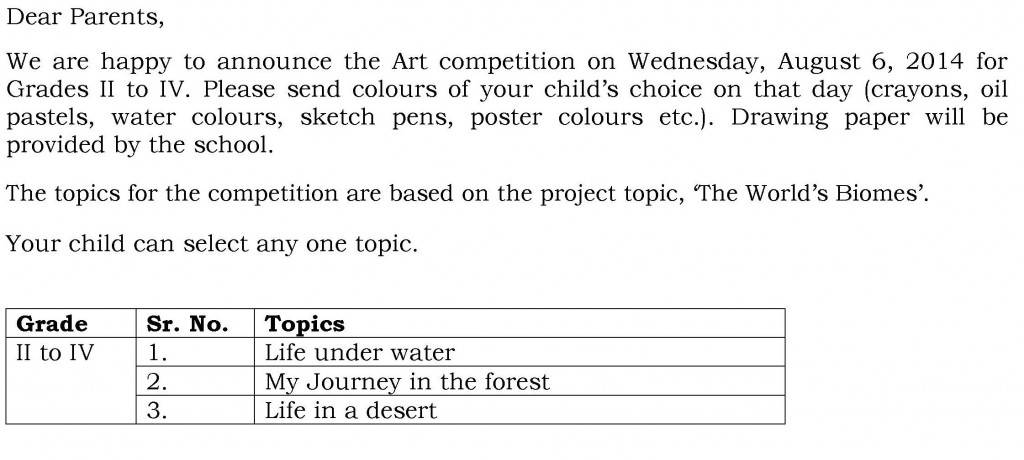 [13] Circular - DRAWING COMPETITION - GRADES II to IV