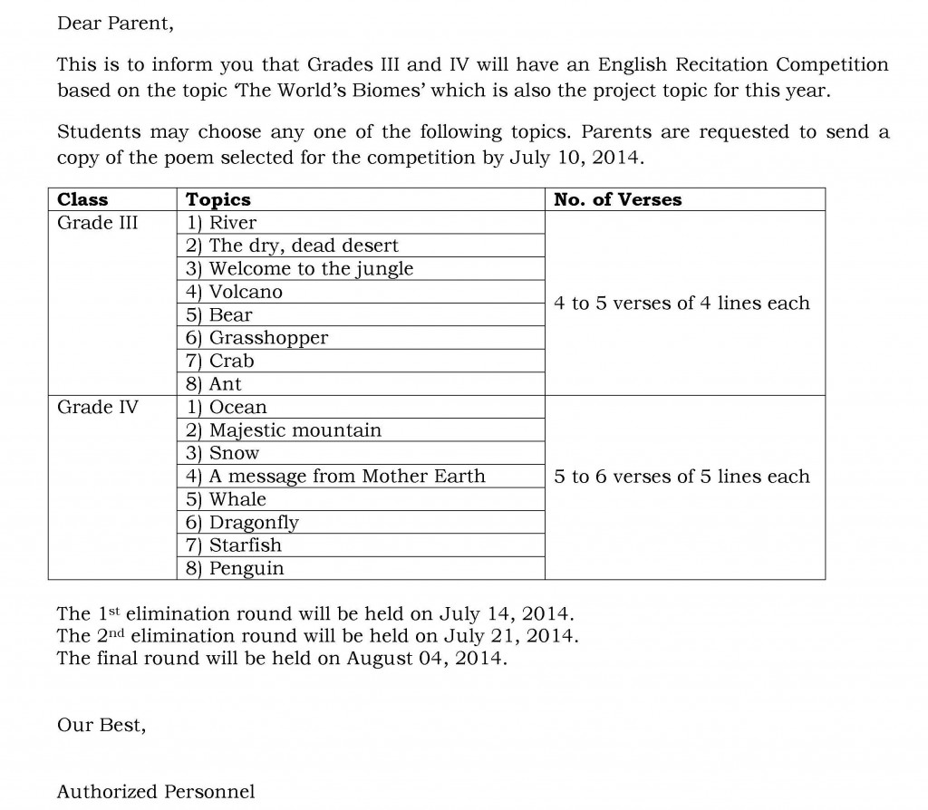 [8] Circular - ENGLISH RECITATION COMPETITION - GRADES III and IV
