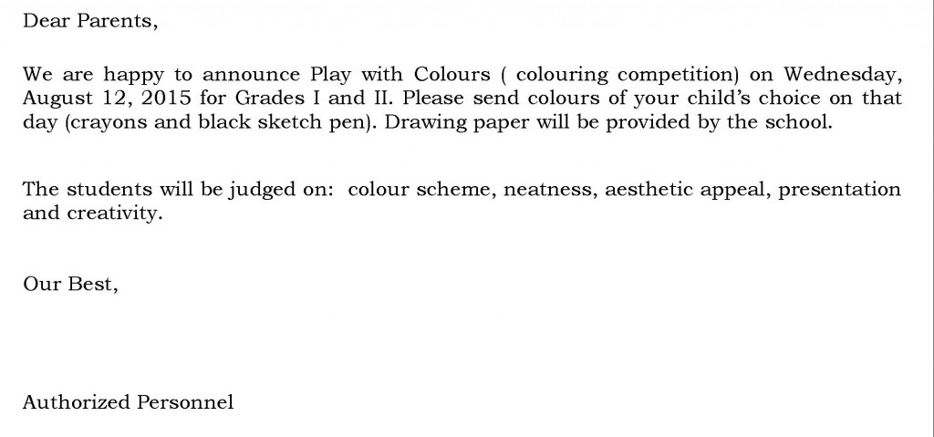 [23] Circular - colour competition - Grades I and II