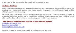 Senior Kg Curriculum Insight September 2017
