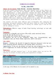 CURRICULUM INSIGHT Sr. Kg- June 2018
