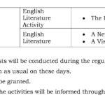 Class 1 Term I – First Formative Assessment Schedule 2018-19