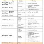 Class 2 Term I – First Formative Assessment Schedule 2018-19